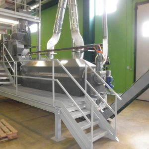 Rotary Fluid Bed Drying